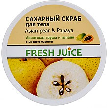 """Voňavky, Parfémy, kozmetika Cukrový telový scrub """"Ázijská hruška a papája"""" - Fresh Juice Asian Pear & Papaya"""