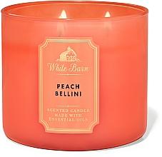 Voňavky, Parfémy, kozmetika Bath And Body Works White Barn Peach Bellini 3-Wick Candle - Parfumovaná sviečka
