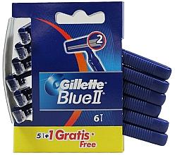 Voňavky, Parfémy, kozmetika Sada jednorazových holiacich strojčekov, 5+1 ks - Gillette Blue II Razor 5+1