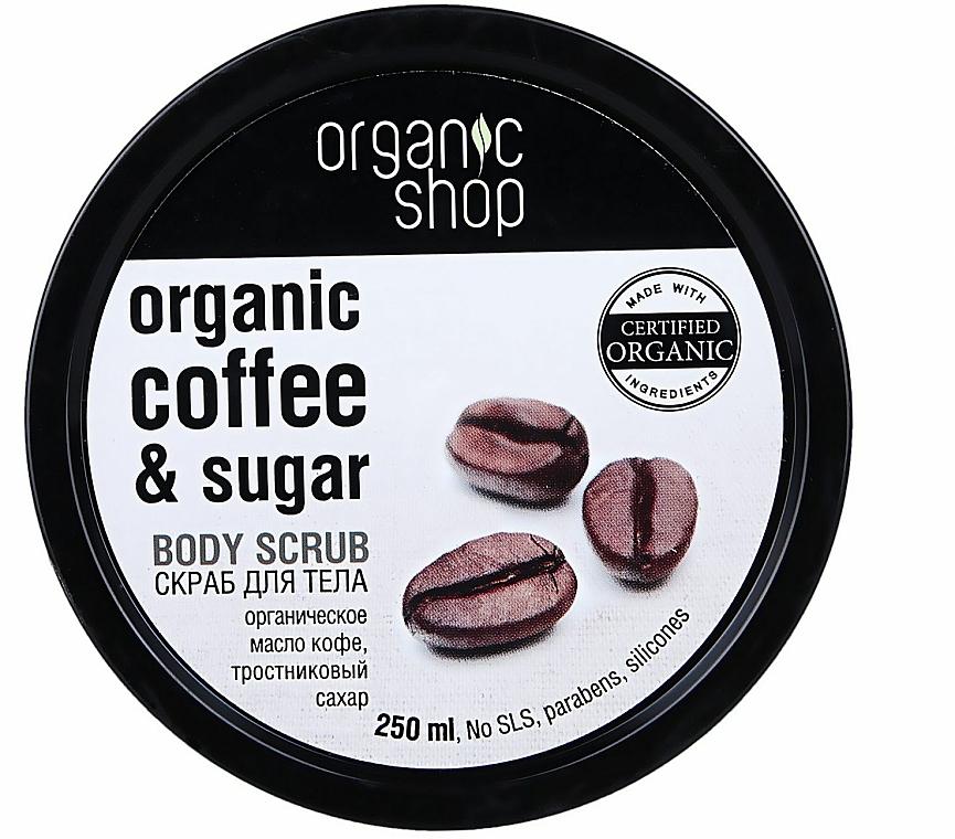 """Telový peeling """"Brazílska káva"""" - Organic Shop Body Scrub Organic Coffee & Sugar — Obrázky N1"""