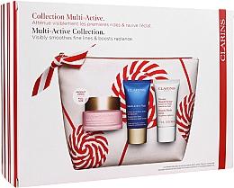 Voňavky, Parfémy, kozmetika Sada - Clarins Multi-Active Christmas Set (day/cream/50ml + night/cream/15ml+balm/15ml+bag)