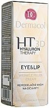 Voňavky, Parfémy, kozmetika Krém na oči a pery s čistou kyselinou hyalurónovou - Dermacol Hyaluron Therapy 3D Eye and Lip Wrinkle Filler Cream