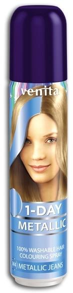 Tónovací sprej na vlasy - Venita 1-Day Color Metallic Spray