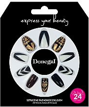 Voňavky, Parfémy, kozmetika Sada umelých nechtov s lepidlom, 3064 - Donegal Express Your Beauty