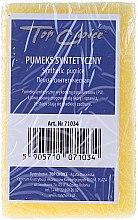 Voňavky, Parfémy, kozmetika Syntetická obojstranná pemza, žltá, 71034 - Top Choice
