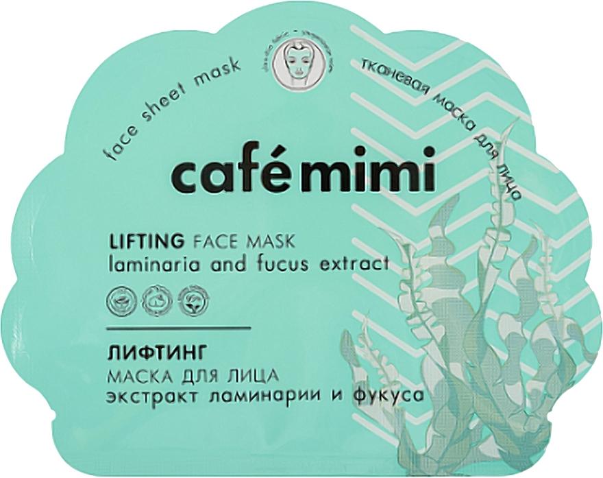 Lifting-maska na tvár - Cafe Mimi Lifting Fase Mask Laminaria and Fucus Extract