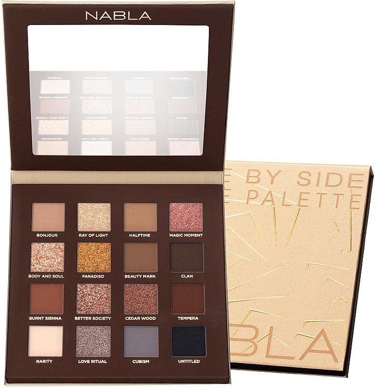 Paleta očných tieňov - Nabla Side By Side Nude Palette