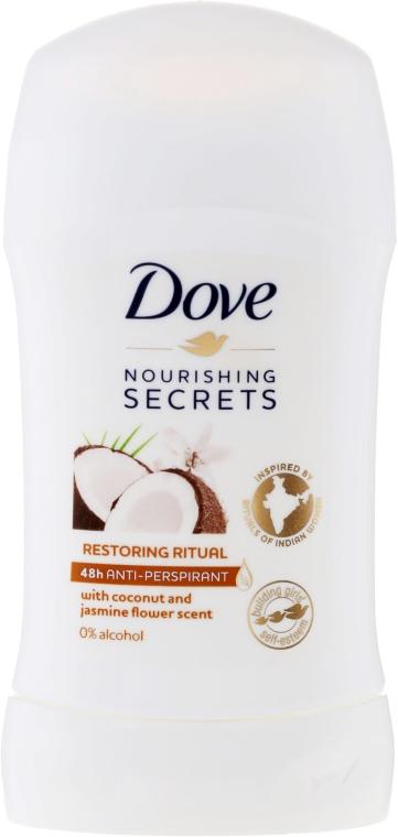 "Dezodorant-stick ""Kokos a jazmín"" - Dove Nourishing Secrets Restoring Ritual Deodorant"