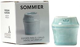 Voňavky, Parfémy, kozmetika Stojan na zubnú kefku, svetlomodrý - NaturBrush Sommier Toothbrush Holder