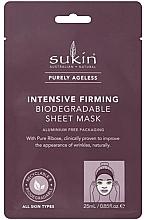 Voňavky, Parfémy, kozmetika Látková maska na tvár - Sukin Purely Ageless Intensive Firming Biodegradable Sheet Mask