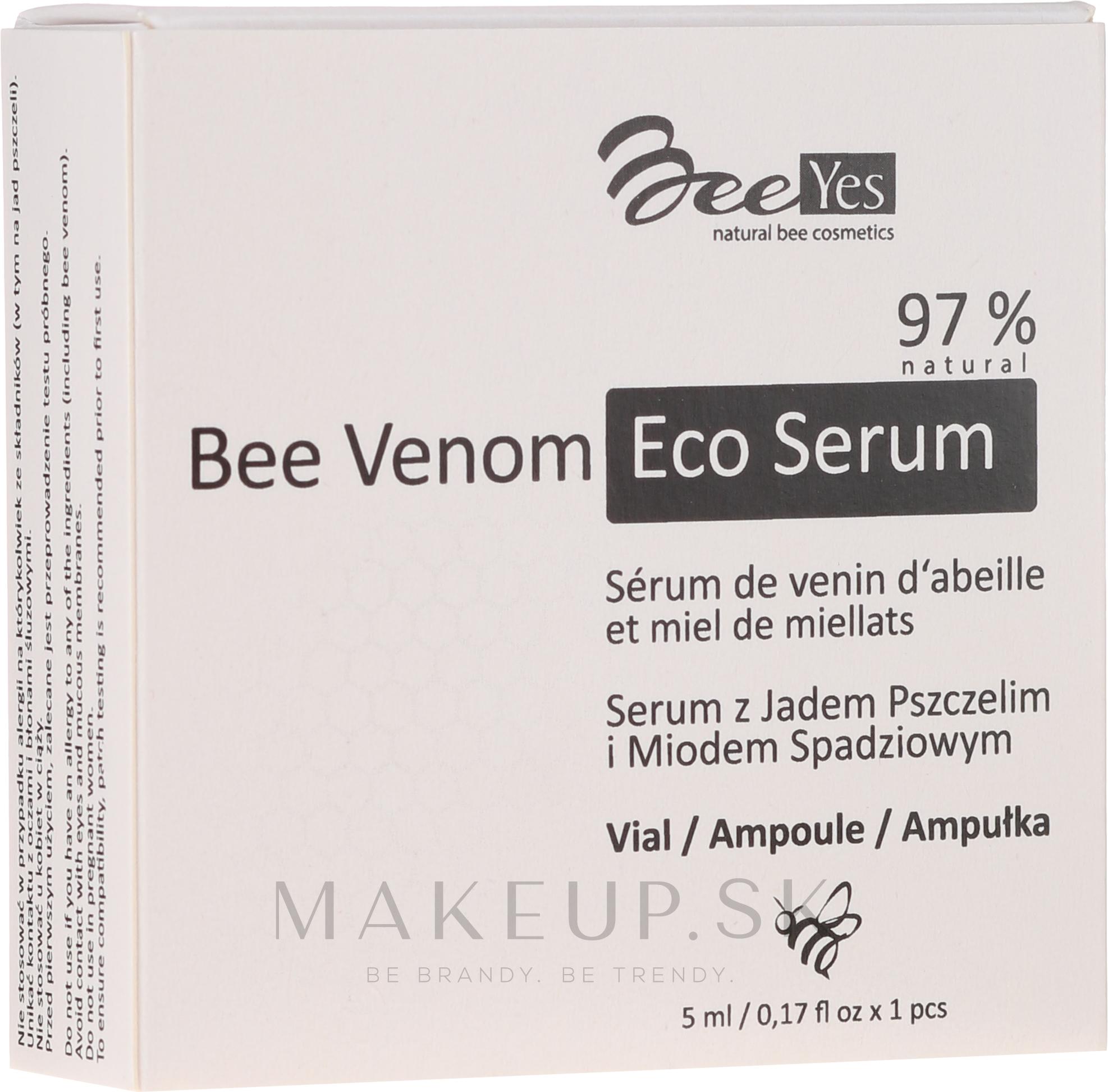 Protistarnúce hydratačné sérum na tvár - BeeYes Bee Venom Eco Serum — Obrázky 1 x 5 ml