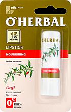 Voňavky, Parfémy, kozmetika Výživný rúž s extraktom goji - O'Herbal Nourishing Lipstick with goji extract
