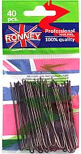 Voňavky, Parfémy, kozmetika Vlásenky hnedé 65 mm, 40 ks. - Ronney Brown Hair Pins