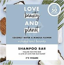 """Voňavky, Parfémy, kozmetika Tuhý šampón na objem vlasov """"Kokos a mimóza"""" - Love Beauty And Planet Coconut & Mimosa Shampoo"""