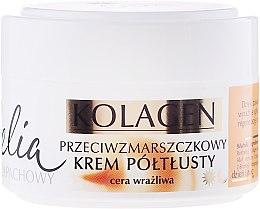 Voňavky, Parfémy, kozmetika Krém proti vráskam pre citlivú pleť tváre - Celia Collagen Cream