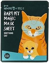 "Voňavky, Parfémy, kozmetika Látková maska ""Mačka"" - Holika Holika Baby Pet Magic Mask Sheet Soothing Cat"