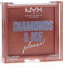 Voňavky, Parfémy, kozmetika Rozjasňovač na tvár a telo - NYX Professional Makeup Diamonds & Ice Face And Body Illuminator