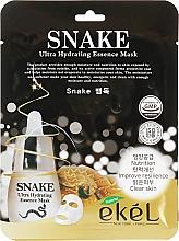 "Voňavky, Parfémy, kozmetika Textilná maska ""Botoxový efekt"" - Ekel Snake Ultra Hydrating Essence Mask"