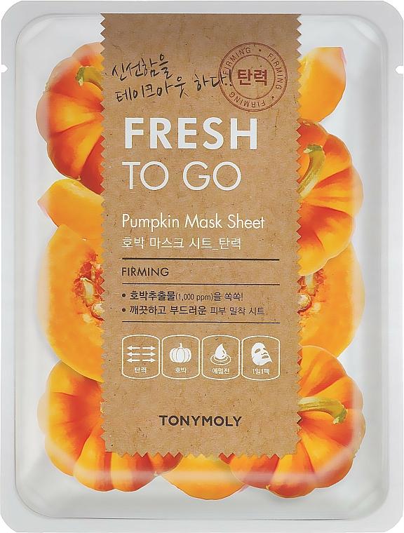 Textilná maska s tekvicovým extraktom - Tony Moly Fresh To Go Mask Sheet Pumpkin — Obrázky N1