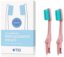 Voňavky, Parfémy, kozmetika Náhradná hlavica do zubnej kefky, mäkká štetina, ružová - TIO Toothbrush Soft