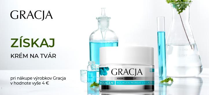 Pri nákupe výrobkov Gracja v hodnote vyše 4 € získaj výživný kolagénový krém na tvár ako darček