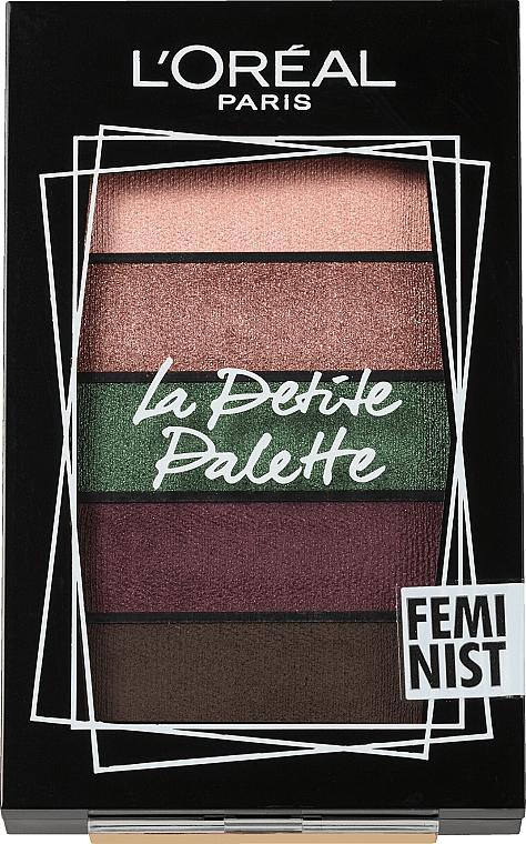 Paleta očných tieňov - L'Oreal Paris La Petite Palette Feminist Eyeshadow