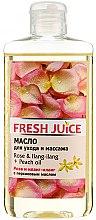 """Voňavky, Parfémy, kozmetika Olej na starostlivosť a masáž """"Ruža a Ylang-Ylang+Broskýňový olej"""" - Fresh Juice Energy Rose&Ilang-Ilang+Peach Oil"""