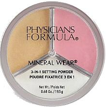 Voňavky, Parfémy, kozmetika Fixačný púder na tvár - Physicians Formula Mineral Wear 3-In-1 Setting Powder