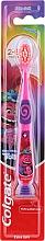 Voňavky, Parfémy, kozmetika Detská zubná kefka, 2-6 rokov, ružovo-fialová, trol - Colgate Smiles Kids Extra Soft
