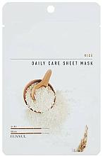 Voňavky, Parfémy, kozmetika Textilná maska na tvár s ryžovým extraktom - Eunyul Daily Care Mask Sheet Rice