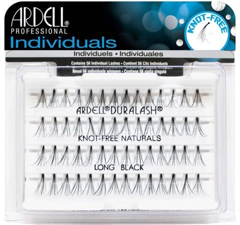 Falošné riasy - Ardell Individuals Duralash Knot-Free Naturals Long Black