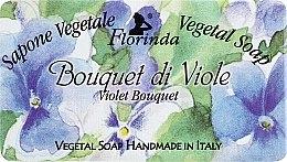 """Voňavky, Parfémy, kozmetika Prírodné mydlo """"Kytica fialiek"""" - Florinda Sapone Vegetale Vegetal Soap Violet Bouquet"""