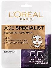 Voňavky, Parfémy, kozmetika Maska pre intenzívne vyhladenie a zosvetlenie pokožky - L'Oreal Paris Age Specialist 55+