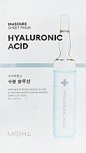 Voňavky, Parfémy, kozmetika Hydratačná pleťová maska s kyselinou hyalurónovou - Missha Mascure Hydra Solution Sheet Mask