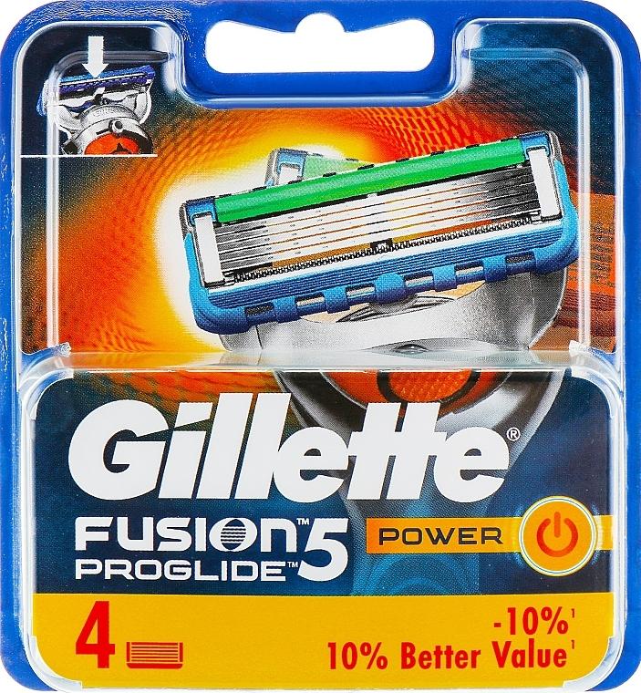 Vymeniteľné kazety na holenie, 4 ks. - Gillette Fusion ProGlide Power