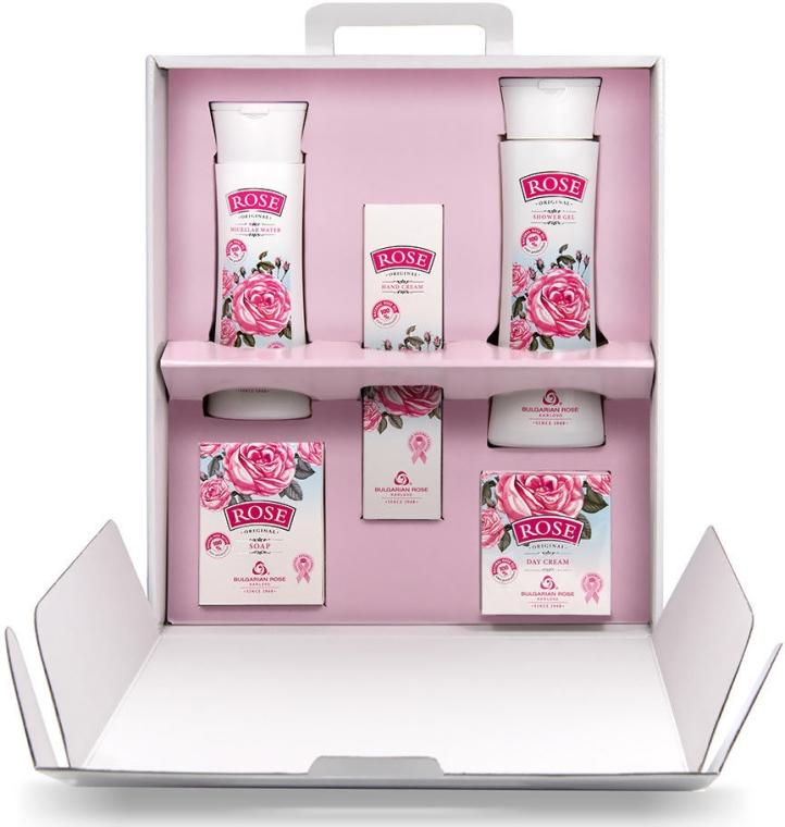 """Darčeková súprava pre ženy """"Rose"""" - Bulgarian Rose (cr/50ml + cr/50ml + micel wather/150ml + gel/150ml + soap/100g) — Obrázky N2"""