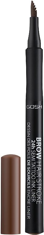 Linková ceruzka na obočie - Gosh Brow Hair Stroke 24H Semi Tatoo Brow Liner