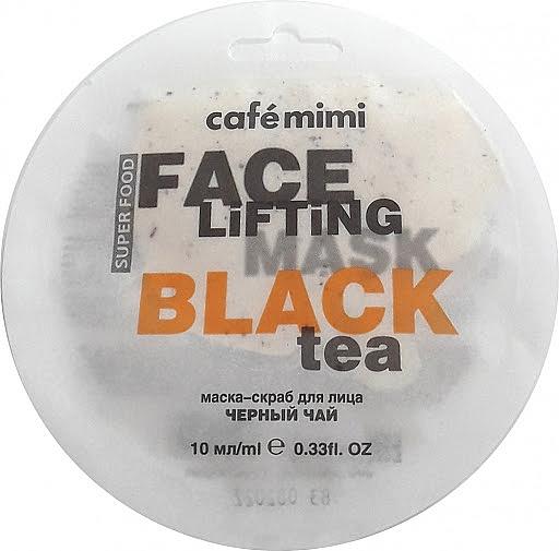 """Scrubujúca maska na tvár """"Čierny čaj a citrónová tráva"""" - Cafe Mimi Face Mask"""