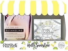 Voňavky, Parfémy, kozmetika Sada - Tangle Teezer Compact Styler Hello Sunshine Set (brush/1szt + hair/tie/1szt)