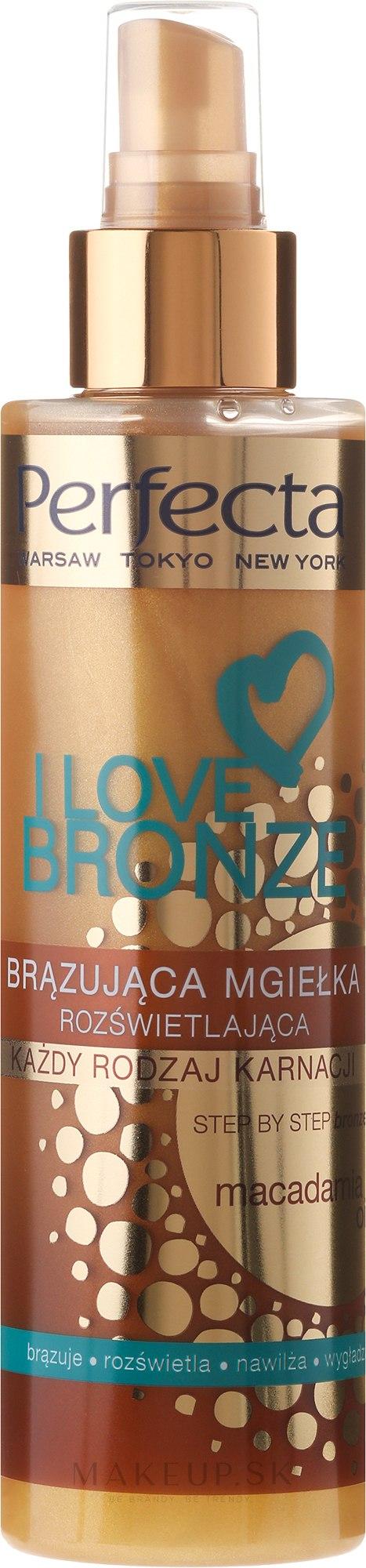 Bronzujúci sprej s s makadamovým olejom - Perfecta I Love Bronze Spray Mist — Obrázky 200 ml