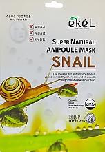 Voňavky, Parfémy, kozmetika Textilná maska s extraktom zo slimáčieho mucínu - Ekel Super Natural Ampoule Mask Snail