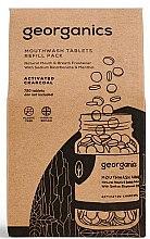 """Voňavky, Parfémy, kozmetika Tabletky pre ústnu vodu """"Aktívne uhlie"""" - Georganics Mouthwash Tablets Refill Pack Activated Charcoal (vymeniteľná jednotka)"""