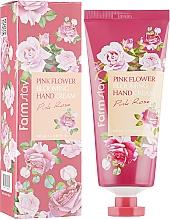 Voňavky, Parfémy, kozmetika Krém na ruky s ružovým extraktom - FarmStay Pink Flower Blooming Hand Cream Pink Rose