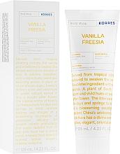 "Voňavky, Parfémy, kozmetika Telové mlieko ""Vanilka a frézia"" - Korres Body Milk Vanilla Freesia"