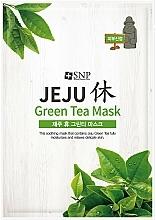 Voňavky, Parfémy, kozmetika Upokojujúca textilná maska na tvár zo zeleného čaju - SNP Jeju Rest Green Tea Mask