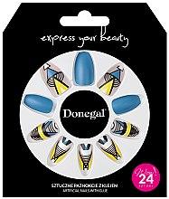 Voňavky, Parfémy, kozmetika Sada umelých nechtov s lepidlom, 3051 - Donegal Express Your Beauty