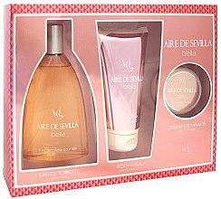 Voňavky, Parfémy, kozmetika Instituto Español Aire de Sevilla Bella - Sada( edt/150ml + b/milk/150ml + hand/cr/50ml)