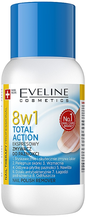 Prostriedok na odstránenie laku 8v1 - Eveline Cosmetics Nail Therapy Professional