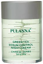 Voňavky, Parfémy, kozmetika Nočný krém na tvár na báze zeleného čaju - Pulanna Green Tea Sebum Control Night Cream