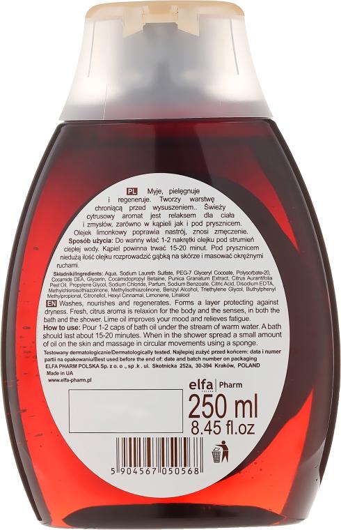 """Kúpeľový a sprchový olej """"Bergamot a limeta"""" - Green Pharmacy — Obrázky N2"""